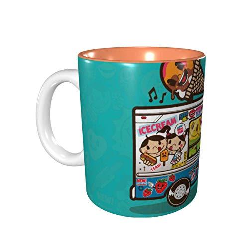 AOOEDM Boxer Dog Mug - Buntes künstlerisch stilisiertes Boxergesicht - Lila - Weiße Keramik Kaffeetasse - Perfekt für Boxer Mama oder Papa
