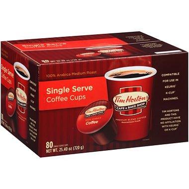 Tim Hortons Cafe Premium Blend Kaffee Einzeltasse 80 Ct