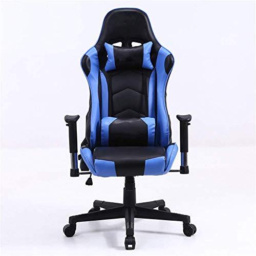 N&O Renovierungshaus Spielstuhl Bürostuhl Rennstuhl PC-Stuhl PU-Leder Verstellbarer Arbeitsdrehstuhl mit hoher Rückenlehne (Farbe Rot Größe Wie abgebildet)