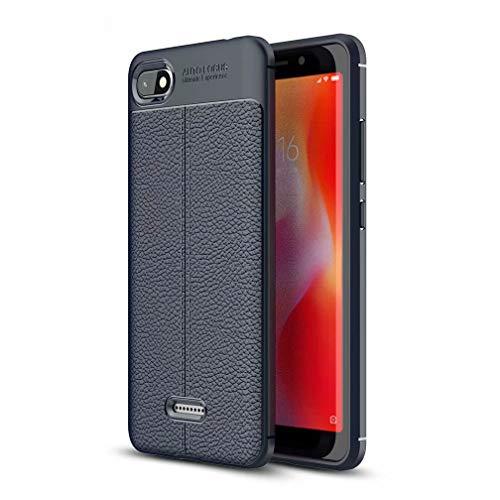 WYRHS Kompatibel mit Xiaomi Redmi 6A Hülle Soft Silicone TPU Telefonkasten,Ultra dünn Stoßfest Kratzfest HandyHülle-Blau