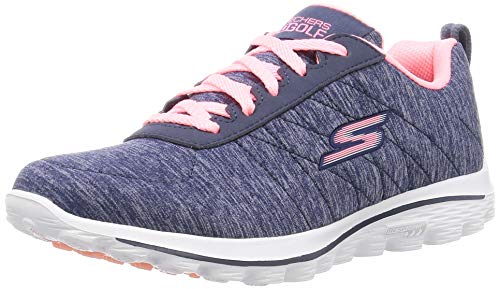 Skechers Damen Golf-Weg Sport Spikeless Mesh-Golfschuhe - Marine/Rosa UK 5.5