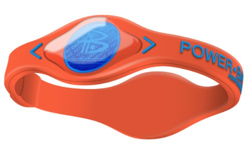 Power Balance Silikon-Armband Electric Series - Pulseras con Holograma de Fitness, Color Naranja Brillante, Talla XS