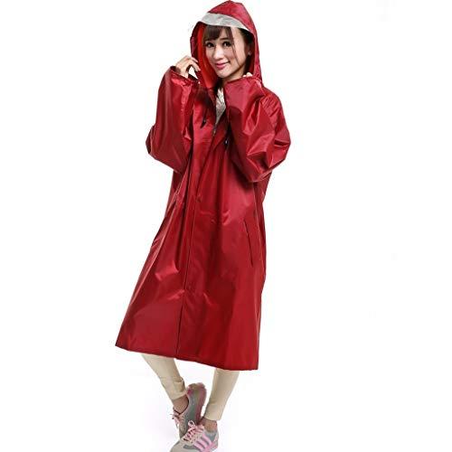 Adulta del impermeable, ligero poncho con capucha y mangas, reutilizable y caminar...