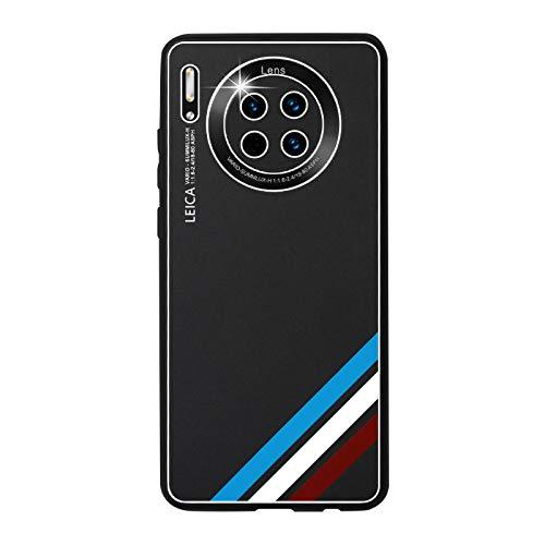 GOBY Coque Huawei mate 30 Case TPU Soft Housse Protection Mirror Absorption des Chocs Téléphone en Silicone métallique argenté pour Huawei mate 30 (noir)