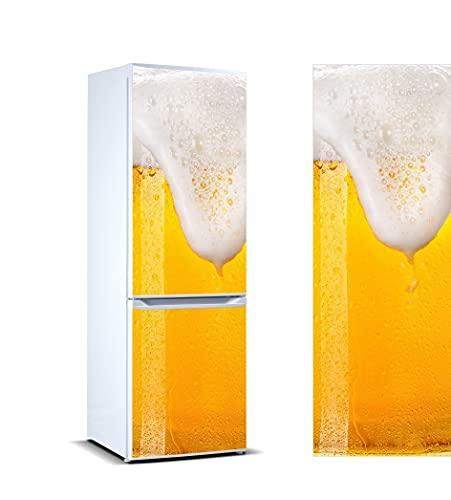 Oedim Vinilo para Frigorífico Cerveza Espumosa 185x70cm | Adhesivo Resistente y Económico | Pegatina Adhesiva Decorativa de Diseño Elegante