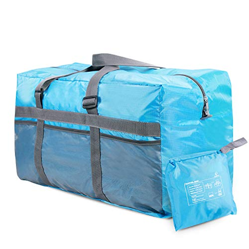 REDCAMP 75L Extra Large Duffel Bag Lightweight & Multifunction, 25' Water Resistant Travel Duffle Bag for Men Women, Blue