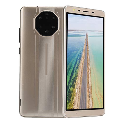 Teléfonos Móviles Desbloqueados 512MB+4 GB, Mate40 RS 5.8in HD USB WiFi/BT/FM/GPS Teléfonos Android Desbloqueado Dual SIM Huella Digital Identificación Facial Teléfono Móvil 128GB Extensión Smartphone