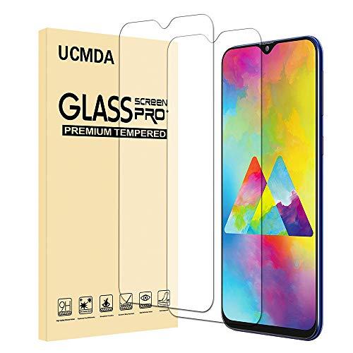 UCMDA Protettiva per Samsung Galaxy M20, [2 Pezzi] Samsung Galaxy M20 Protezione Schermo Vetro Temperato [Durezza 9H]