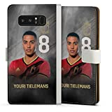 DeinDesign Klapphülle kompatibel mit Samsung Galaxy Note 8 Duos Handyhülle aus Leder weiß Flip Hülle RBFA Offizielles Lizenzprodukt American Football