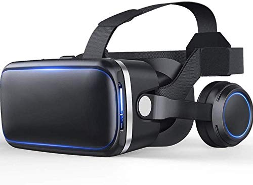 Auriculares VR Conexión Bluetooth Auriculares VR para Pantalla de teléfono Inteligente de 4.7-6.5 Pulgadas Compatible con Android e iOS Adecuado para iPhone 11 Pro/iPhone XS MAX/iPhone 8 / 8P