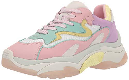 ASH Women's AS-Addict BIS Sneaker, Baby Rose/Multi, 38 M EU (8 US)