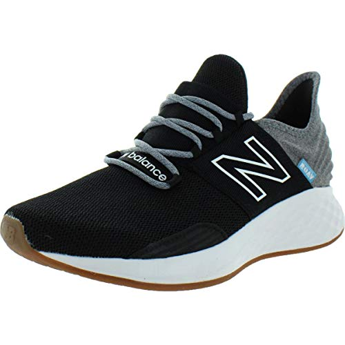 New Balance Women's Fresh Foam Roav V1 Sneaker, Black/Light Aluminum, 8.5 M US