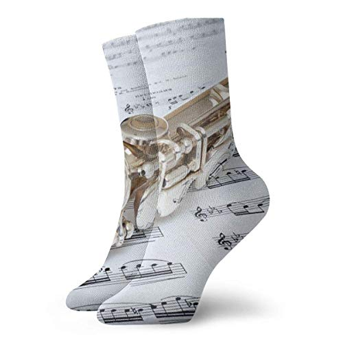 Warm-Breeze Flute Music Compression Socks Unisex Socks Fun Casual Crew Socks Thin Socks Short Ankle For Outdoor Athletic Moisture Wicking