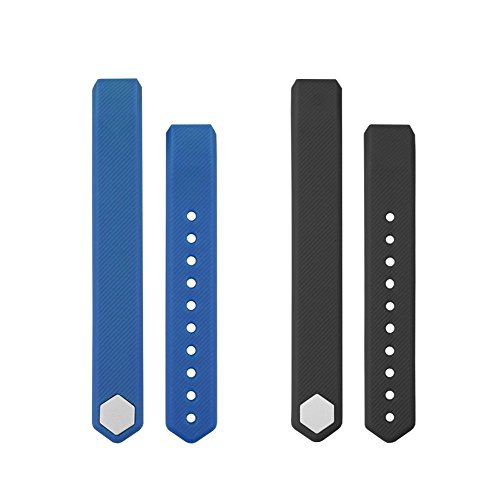 TOOBUR Replacement Straps Watchband for ID115 and ID115HR, 2 Pack (Blue Black)