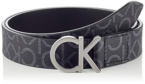 Calvin Klein CK Belt 3cm Cintura, Nero (Black Mono 0gj), 7 (Taglia Produttore: 95) Donna