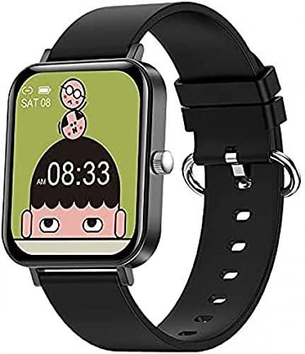LLM Moda multifunción múltiples Modos Deportivos 1.69 Pulgadas de Pantalla Grande Reloj Inteligente Fitness Health Tracker Sport Smartwatch para Android iOS(C)