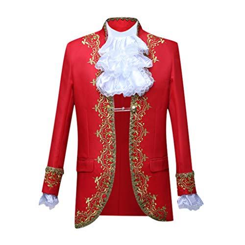 PPangUDing Anzüge Sakko Anzughose Slim Fit 2 Teilig Herren Vintage Gothic Steampunk European Style Gericht Kostüme Militäruniformen Leistungen Anzug Parade Jacke für Business Hochzeit Party Suits