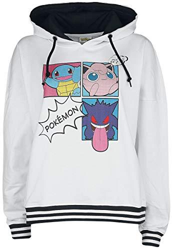 Pokémon Pop Art Group trui met capuchon, wit