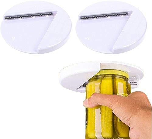 The Grip Jar Opener Under Cabinet Lid Opener, El Abridor De Frascos De Agarre Abre Cualquier Tamaño/Tipo De Tapa Sin Esfuerzo, Herramientas De Cocina Y Artilugios (2pc)