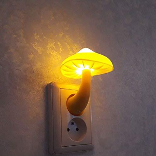 LED Luz de la Noche Lámpara de zócalo de la Pared de la Pared Cálida Blanco Luz-Control Sensor Dormitorio Dormitorio Decoración del hogar(EU Plug)