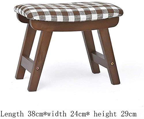 ZFFSC - Taburete de madera maciza de algodón para sofá, sala de estar, dormitorio, pedales de repuesto