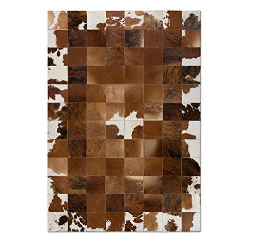 Vip Leather NEU KUHFELL Patchwork Teppich Cod 8868HRD (90 cm x 120 cm)