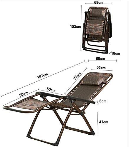 ZYLHC Sillas reclinables Plegable al Aire Libre Tumbona Plegable Silla de Descanso for Comer Silla de salón for Adultos Inicio del Respaldo cómodo Widen