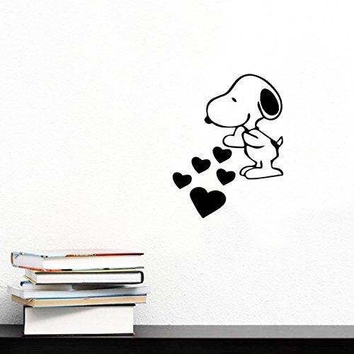 Vinyl Wall Art Decal Snoopy Love 7 X 6 Trendy Inspirational Cute Positive Girly Quote Sticker For Girls Room Bedroom Closet Playroom Office Yoga Ballet Feminine Decor Wantitall