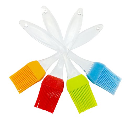 iNeibo Backpinsel Silikonpinsel aus Hitzebeständigem und Lenbesmittelechtem Silikon Spülmaschinenfest. 4er Set (4 Farben)