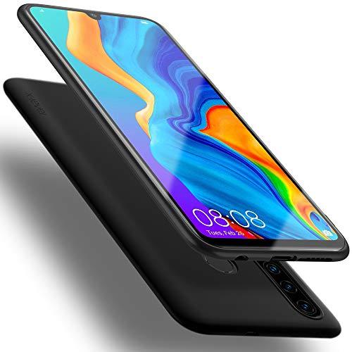 X-level Huawei P30 Lite Hülle, [Guardian Serie] Soft Flex TPU Hülle Superdünn Handyhülle Silikon Bumper Cover Schutz Tasche Schale Schutzhülle für Huawei P30 Lite New Edition - Schwarz