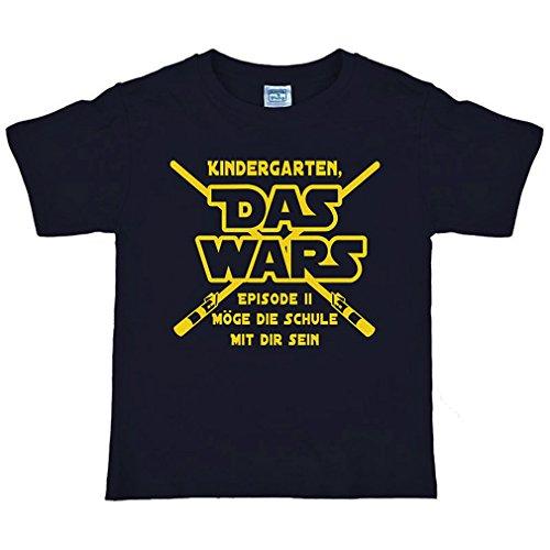 Einschulungs Shirt für Jungen & Mädchen,Kinder T-Shirt Das wars, schwarz (146/152)