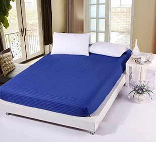 CLJKJDS Sábana bajera de goma elástica para colchón, funda de cojín, funda de cama, 1 sábana (color: 2, tamaño: Queen)