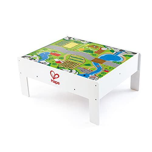 Hape Railway Play and Stow Storage and Activity Table for Wooden Trainsets Multi Color, L: 35.4, W:...