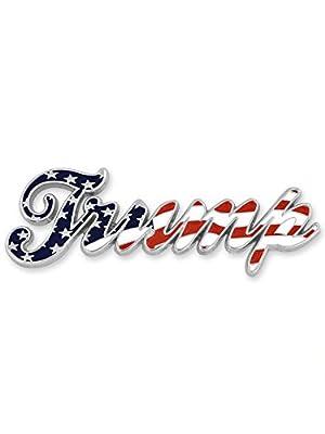 PinMart Trump American Flag Brooch
