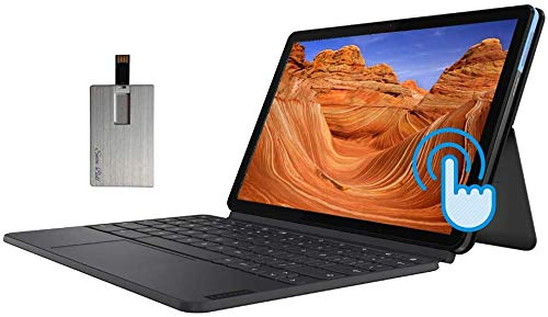 "2020 Lenovo Chromebook Duet 2-in-1 10.1"" FHD Touchscreen Computer, MediaTek Helio P60T CPU, 4GB RAM, 128GB, Keyboard, ARM G72 MP3 Graphics, Chrome OS, Blue&Gray, 32GB USB Card"