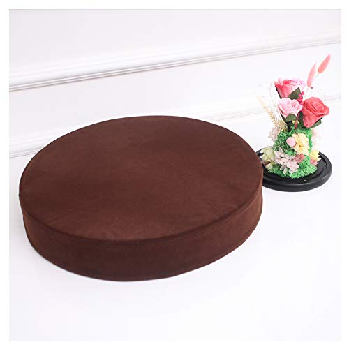 bandezid Round Couch Cushion,Round Floor Pillow Cushion,Armchair Booster Cushion Indoor Outdoor Round Seat Pad Cushions 2'(5cm) thick Multi-size Multi-color-Dark brown 90x5cm(35.4x2in)
