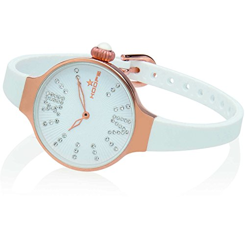 Orologio Donna Chérie Midi Stones Rose Gold Bianco Hoops