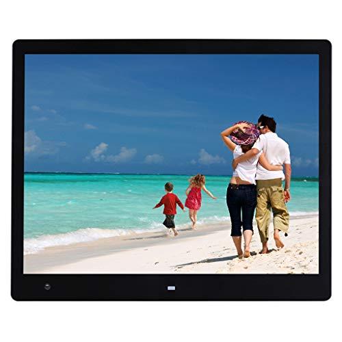 WHJ@ digitaler fotorahmen,Digitale Bilder schwarzer 17-Zoll-LCD-Bildschirm, 4: 3-Breitbild, Auflösung 1600 * 1200, Unterstützung mehrerer Sprachen