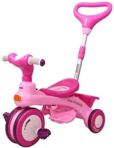 Xiaoyue Fahrräder 3~10 Jahre alt Kinder Tricycle Kinderwagen Pram Indoor Baby-Fahrrad-Praxis Fahrrad (Farbe: Pink, Größe: 66.5x39.5x49.5cm) lalay