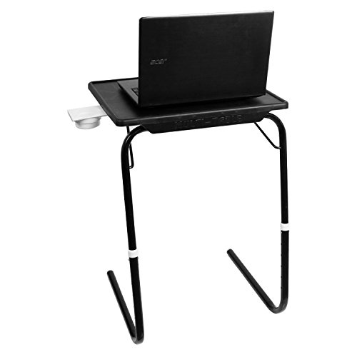 MULTI - TABLE Foldable and Adjustable Multi Purpose Utility Table for Laptop, Dinner, Study (Black and Black)