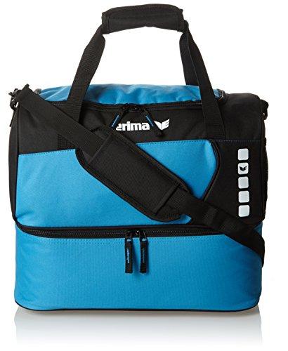 Erima GmbH 723573 Bolsa de Deporte con Compartimento Inferior, Curacao Negro, S