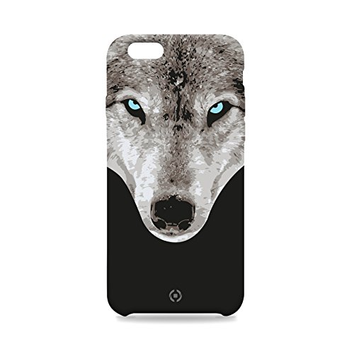 Celly Skin Collection Cover per iPhone 6 Plus/6S Plus, Lupo