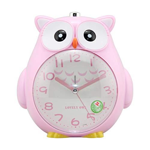 Hihey digitale klok, schattige uil Shaped Silent nachtlampje, wekker, nachtkastje, slaapkamer, snooze-functie, stille klok voor kinderen