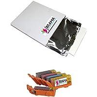 PACK de Una caja de 25 laminas de papel de azucar A4 y 5 X Cartuchos comestibles PGI570 CLI571 Bramacartuchos, envío desde Madrid