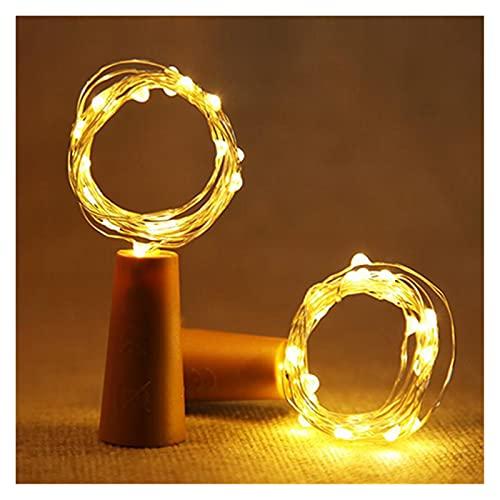 1M 2M Luces de botella de vino con corcho LED Cadena de luz Alambre de cobre Guirnalda de hadas Luces Navidad Fiesta de vacaciones Decoración de la boda ( Color : Warm White , Size : 1.5m 15leds )