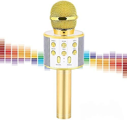 Micrófono inalámbrico Bluetooth Karaoke, micrófono recargable para niños, karaoke profesional, Karaoke de mano profesional..