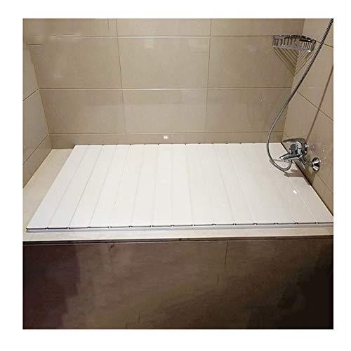 MNBVH Badewannenabdeckungen Weiß Badewannenablage Staubdichte PVC Dämmplatte Badewannenabdeckung Faltbare Badewannenisolationsabdeckung 160×70 cm
