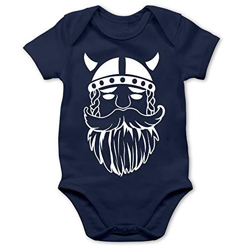 Shirtracer Bunt gemischt Baby - Wikinger - 12/18 Monate - Navy Blau - Baby Jungen Wikinger - BZ10 - Baby Body Kurzarm für Jungen und Mädchen