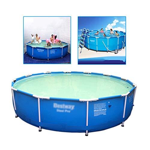 Piscinas Casa niño o Adulto Soporte al Aire Libre for niños Redonda Gruesa de los niños de Gran tamaño (Color : Blue, Size : 460 * 120cm)