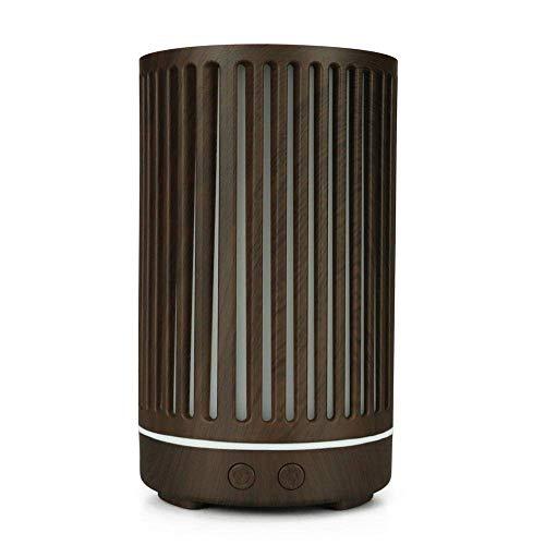 Zhaoyun Schlafzimmer Luftbefeuchter Bamboo Aroma Diffuser 200ml Aromabefeuchter Bunte Nachtlicht Holzmaserung Aroma Diffuser Ruhig Luftbefeuchter (Color : Deep Wood Grain)